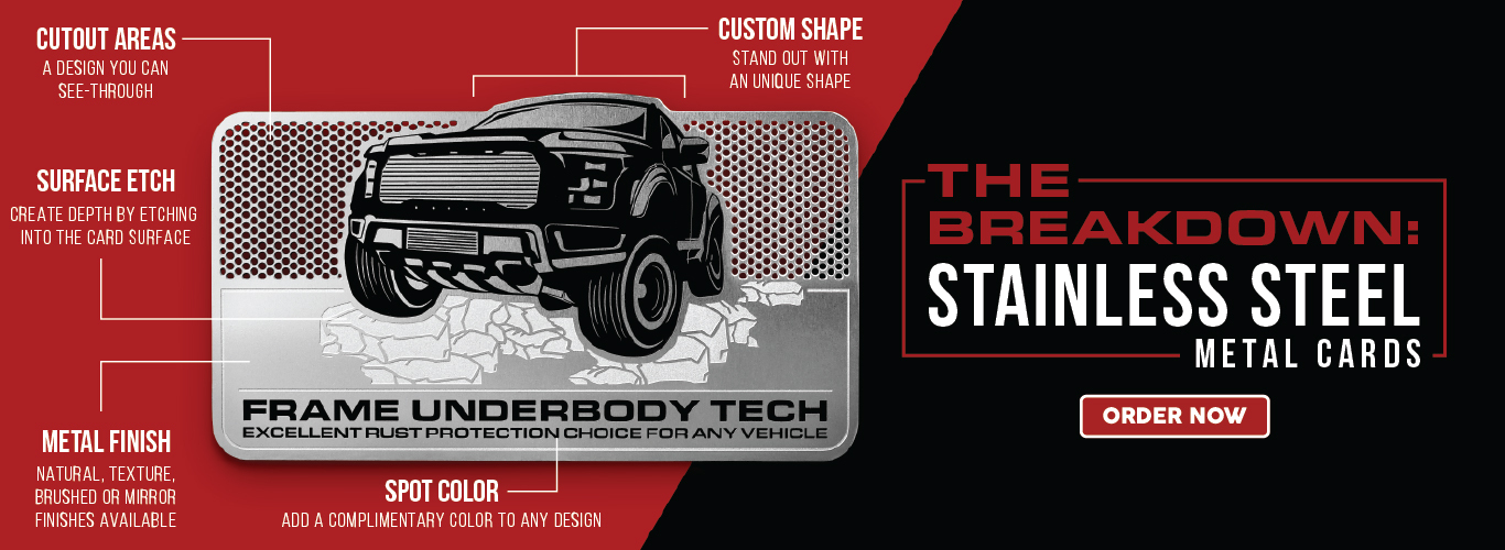 Enjoy the freedom of customization with our Stainless Steel Cards