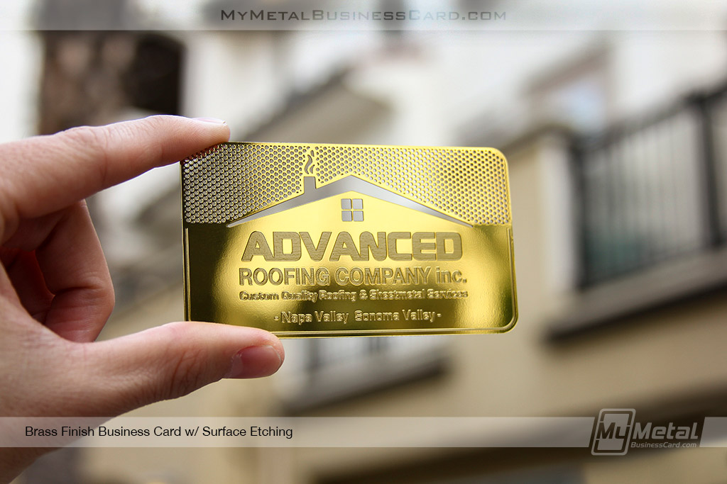 Brass-Finish-Card-For-Roofing-Company-453190