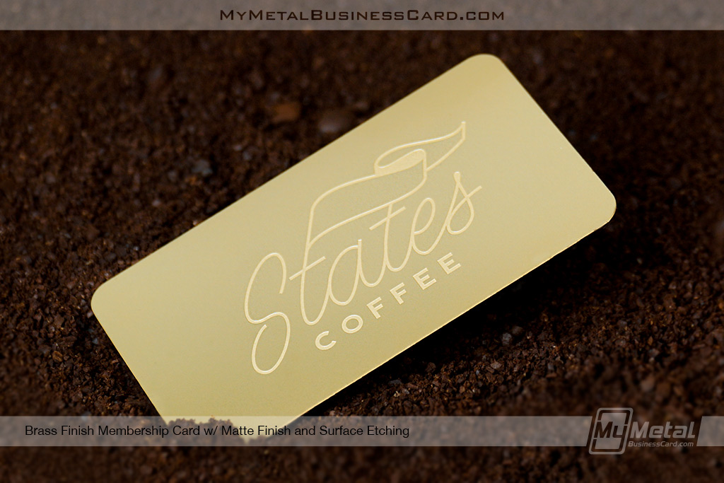 Brass Finish Metal Business Cards