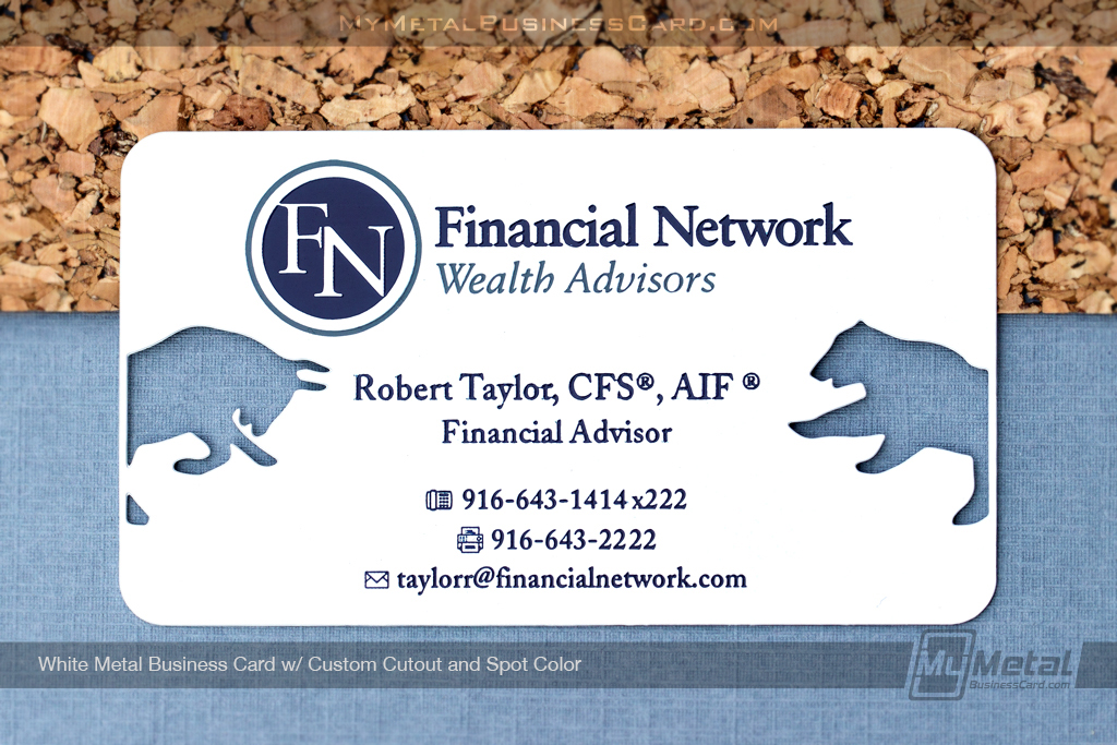White-Metal-Business-Card-Custom-Cutout-FN-Wealth-Advisors