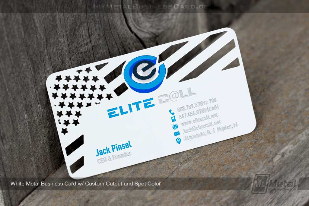 White-Metal-Business-Card-Custom-Cutout-Spot-Color-Flag-Elite-Camp