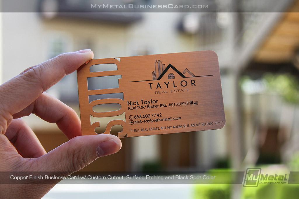 Copper-Finish-Business-Card-For-Realtors