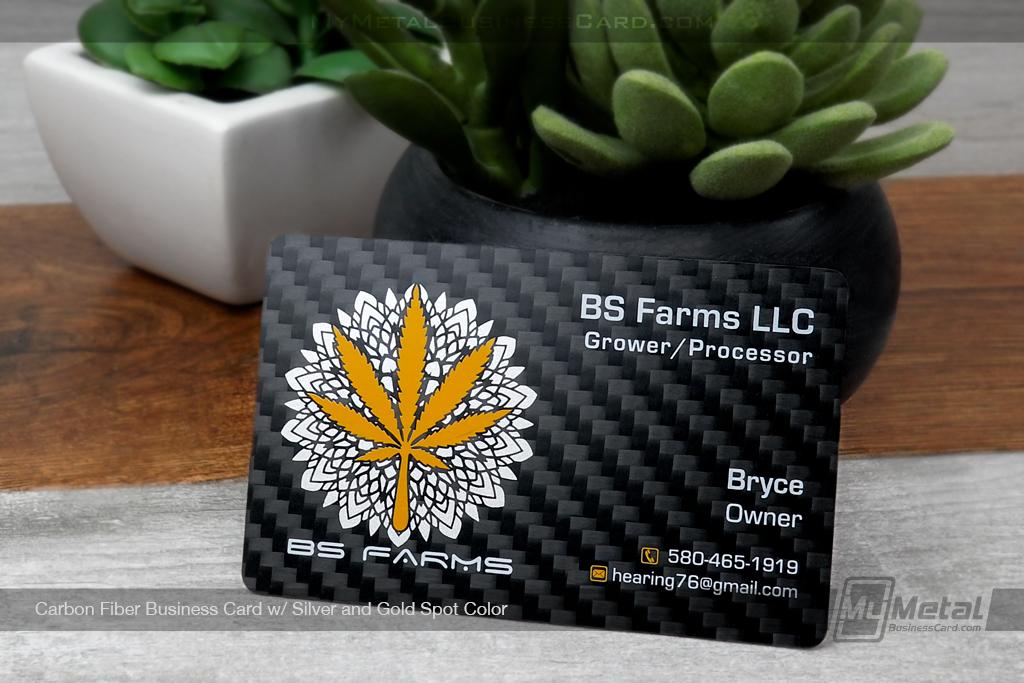 Carbon-Black-Carbon-Fiber-Business-Card-With-Silver-Gold-Spot-BS-Farms