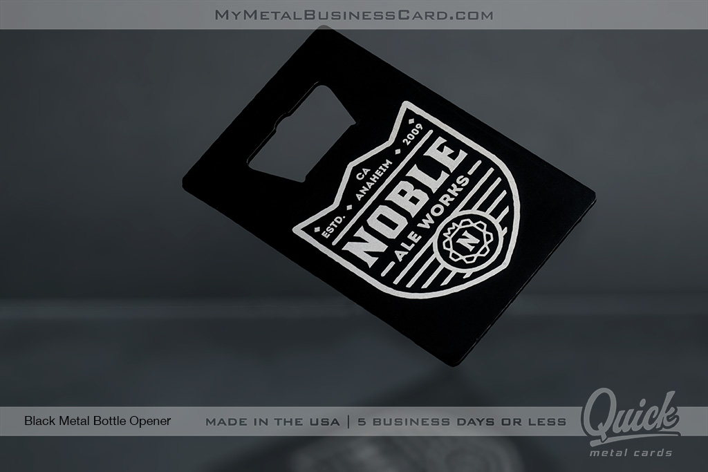 Black-Quick-Metal-Bottle-Opener-Business-Card-For-Noble-Ale-Works-Brewery