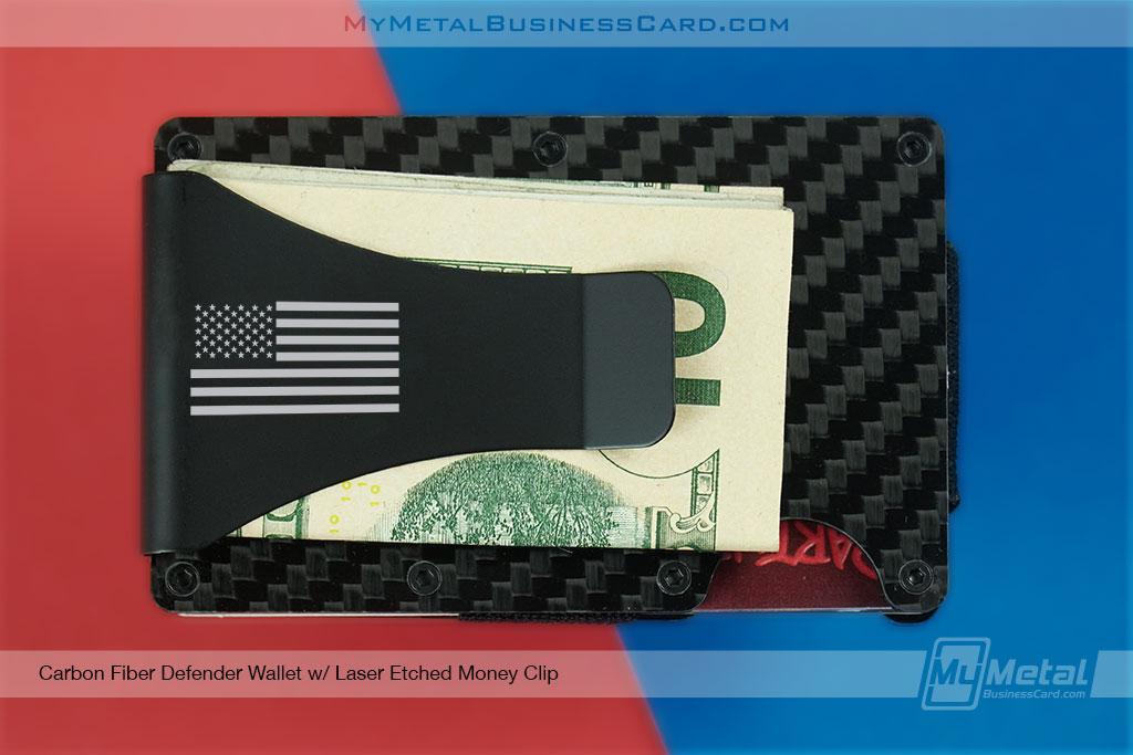 American-Flag-Etched-Money-Clip-Carbon-Fiber-Wallet