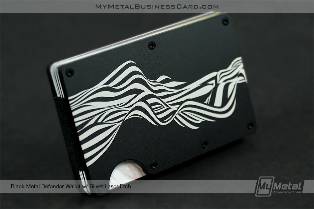 Black-Metal-Defender-Wallet-with-Wave-Pattern-Etched-onto-Surface