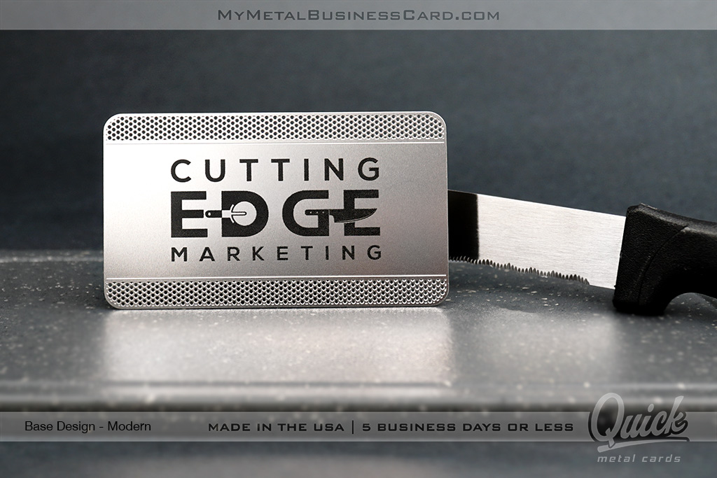 Stainless-Steel-Quick-Metal-Card-with-Cutout-Pattern-and-Black-Spot-Color-Printing-For-Marketing-Group