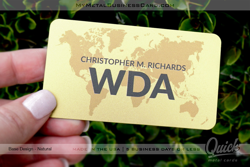Gold-Quick-Metal-Card-With-Custom-Gold-Brass-Finish-Printed-Design-With-Map-of-World