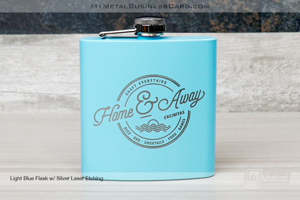 Light-Blue-Metal-Flasks-Silver-Laser-Etching-Home-And-Away-Craft