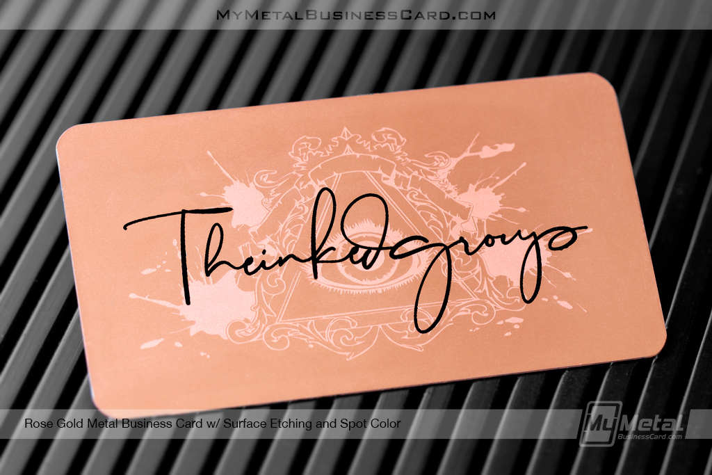 Rose-Gold-Metal-Business-Card-Surface-Etching-Spot-Color-Think