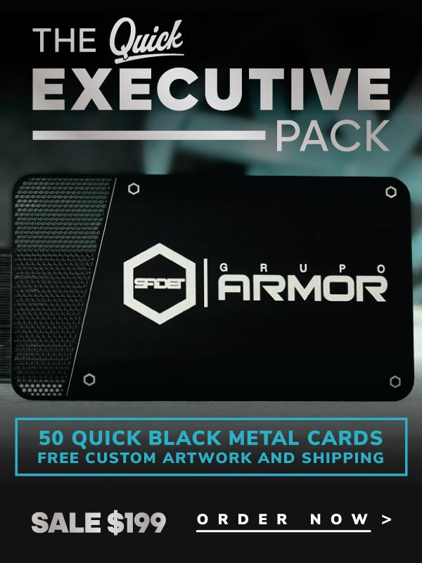 Quick Metal Card Banner