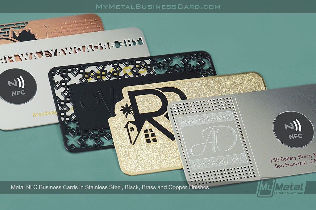 Metal-NFC-Business-Cards-in-Different-Finishes