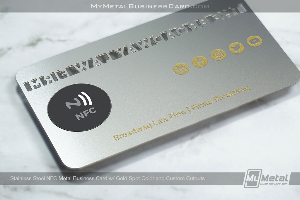 Stainless-Steel-NFC-Metal-Business-Card-for-Law-Firm-with-URL-direct-chip