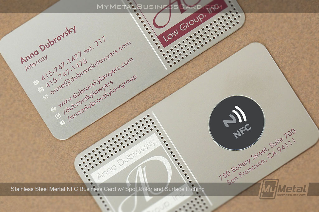 Stainless-Steel-NFC-Business-Custom-Cutouts-Surface-Etching-Spot-Color