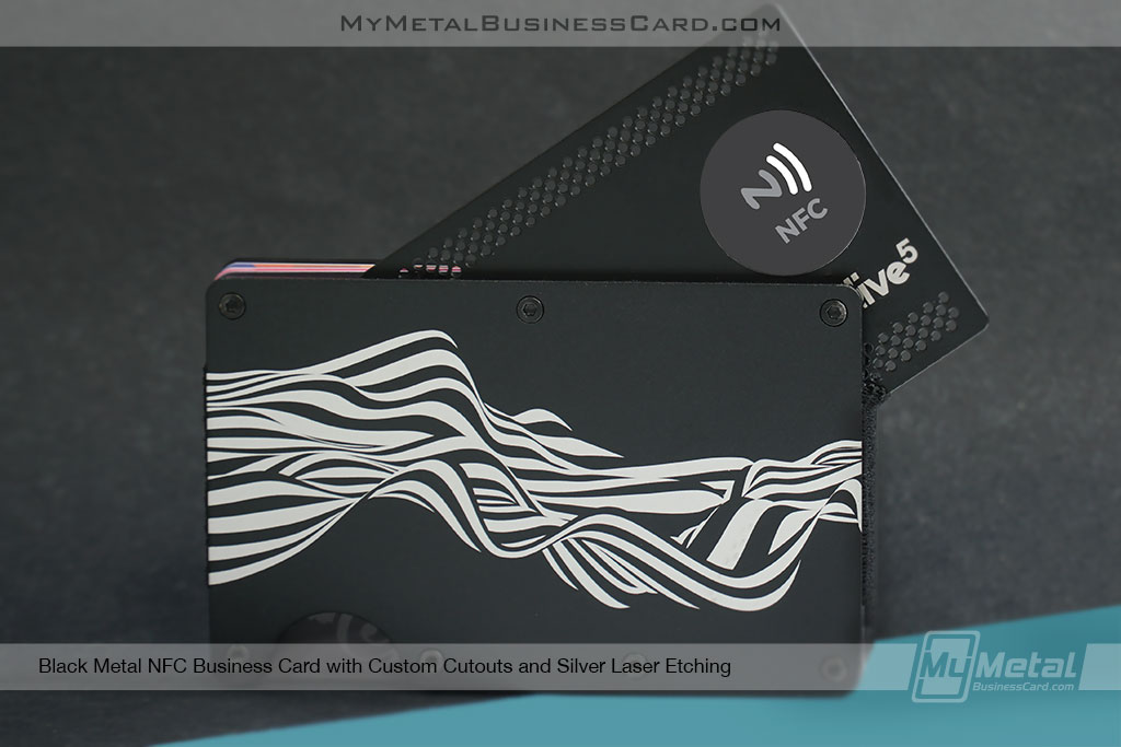 Black-Metal-NFC-Business-Card-With-One-Tap-Technology