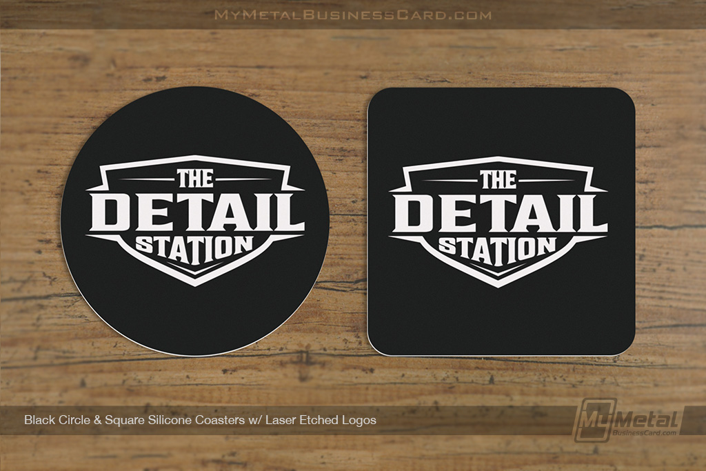 Black-Circle-Square-Silicone-Coasters-Laser-Etched-Logos