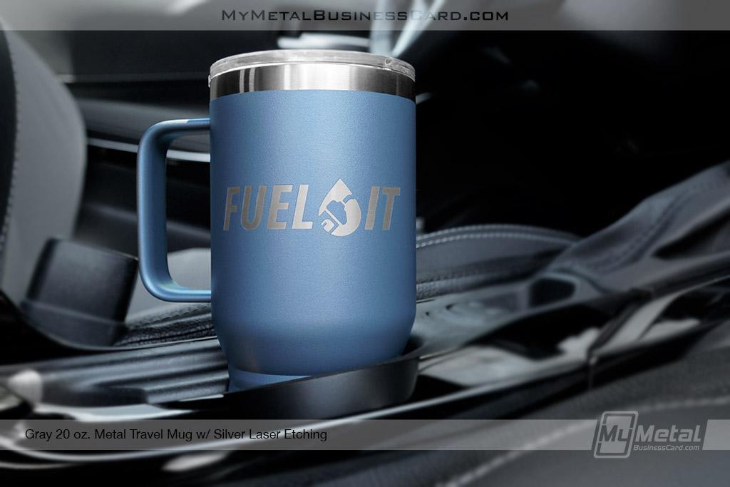 Gray-20-oz-Metal-Travel-Mug-Laser-Etched-Logo