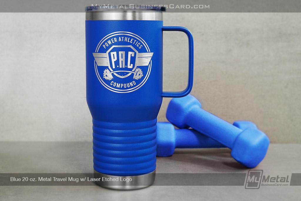 Blue-20-oz-Metal-Travel-Mug-Laser-Etched-Logo