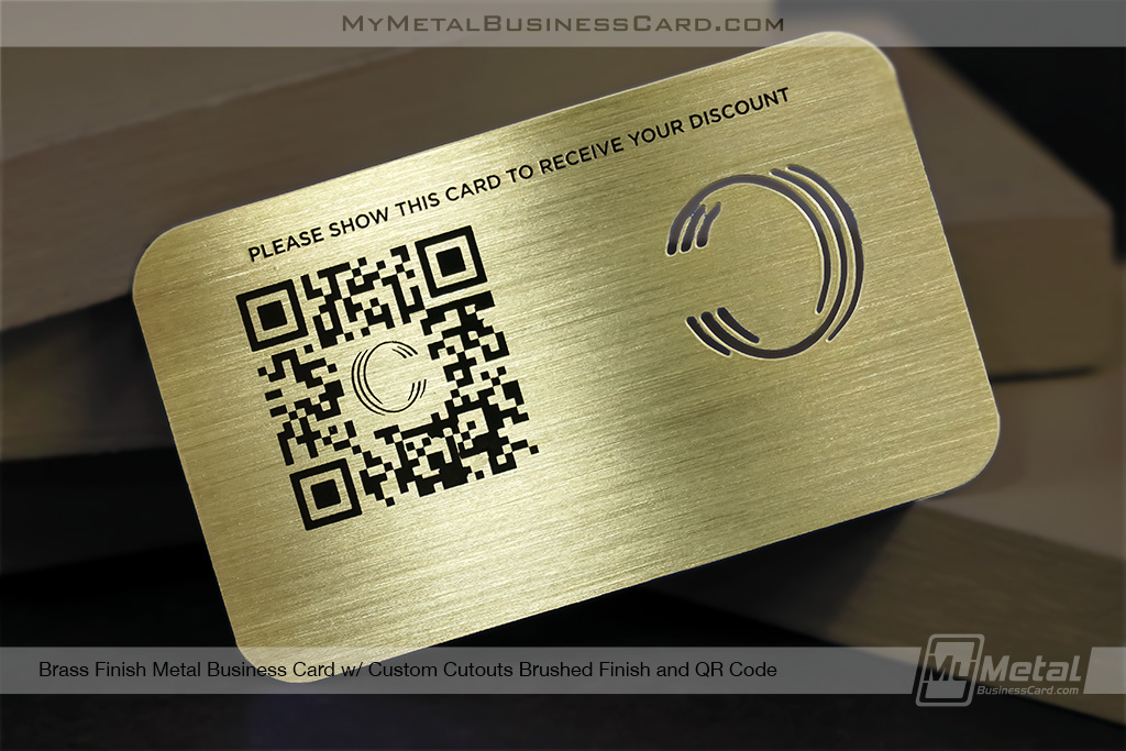 Brushed-Brass-Finish-Membership-Card-with-QR-Code-and-Custom-C-Cutout-Logo