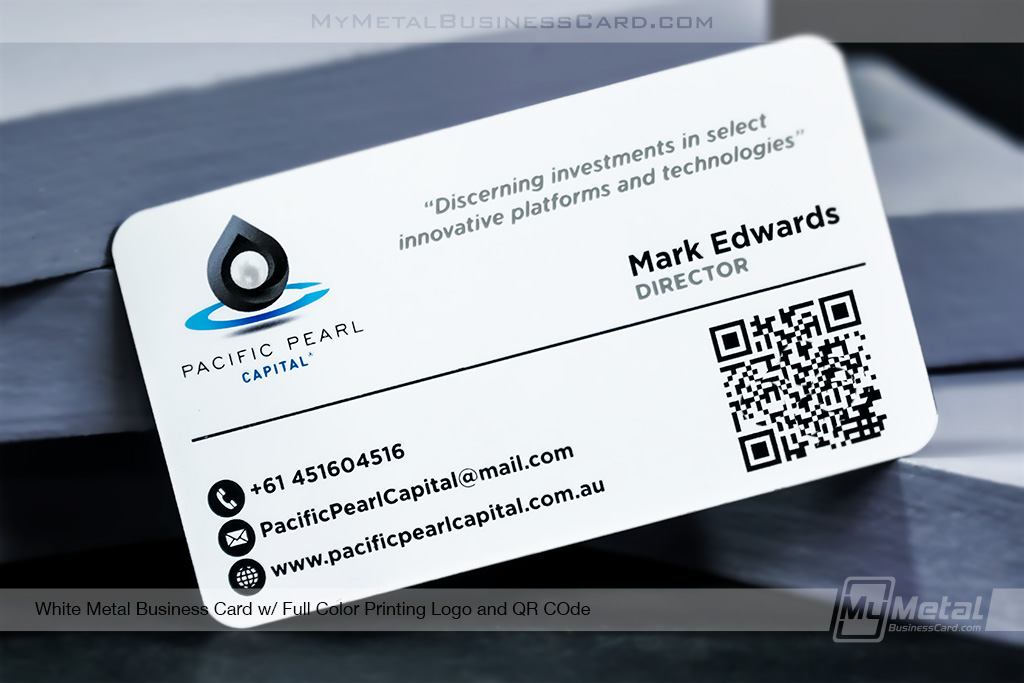 White-Metal-QR-Code-Business-Card-with-Full-COlor-Print-Logo