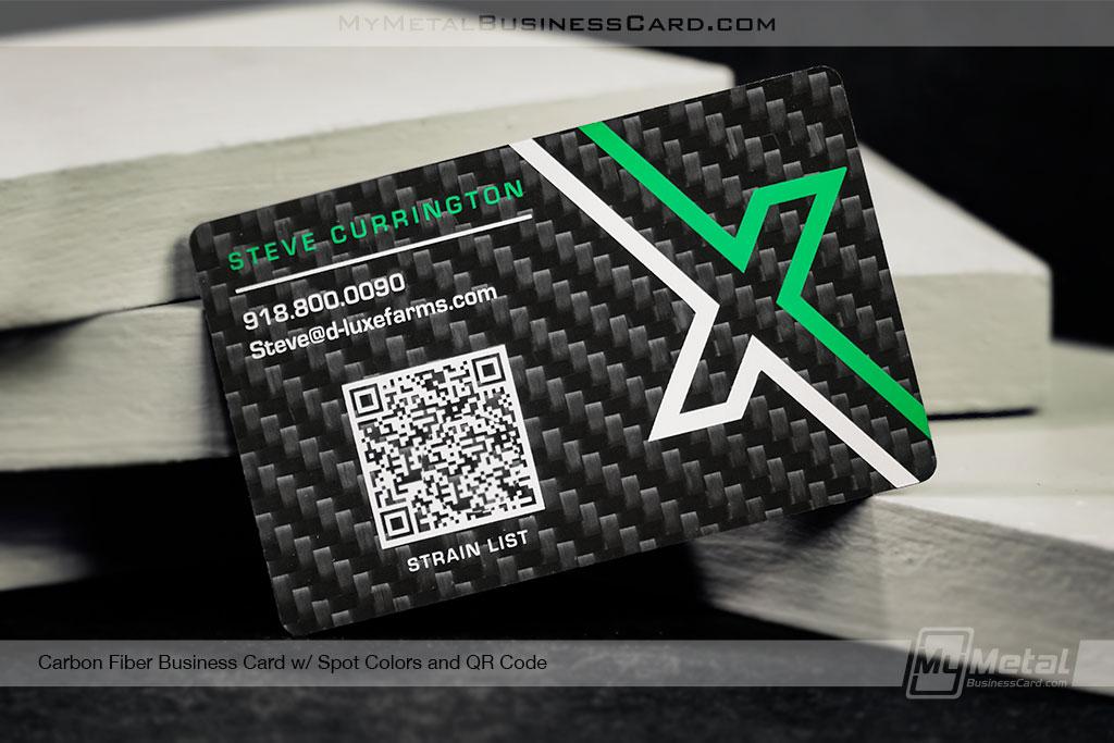 Carbon-Fiber-Business-Card-for-Dispensary-Weed-Pot-QR-Code
