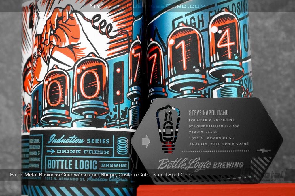 Black-Metal-Business-Card-Bottle-Logic