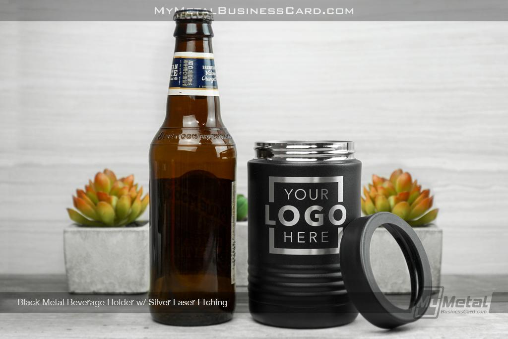 Black-Metal-Beverage-Holder-Silver-Laser-Etching-Your-Logo-Lid