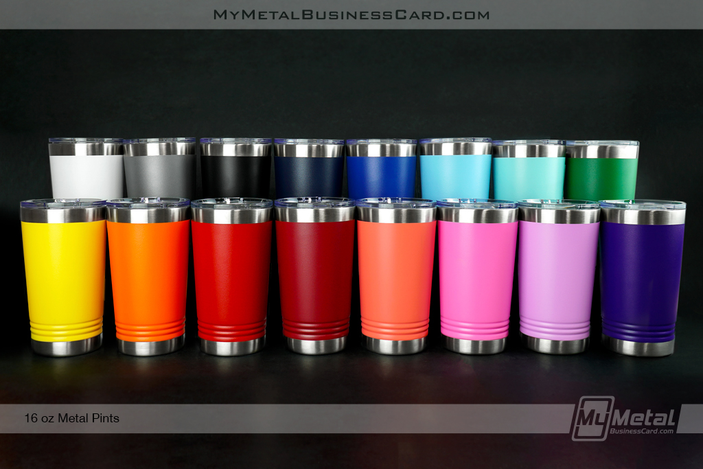 Metal-16oz Pint Tumbler All Colors Available