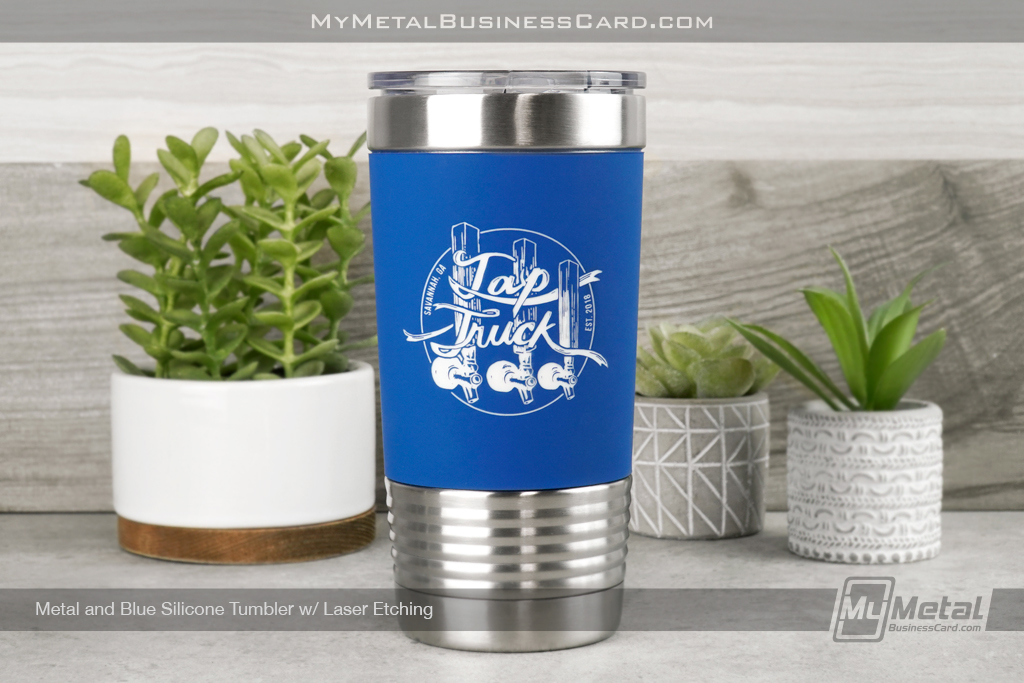 Blue-White-Silicone-Tumbler-Laser-Etching-Tap-Truck