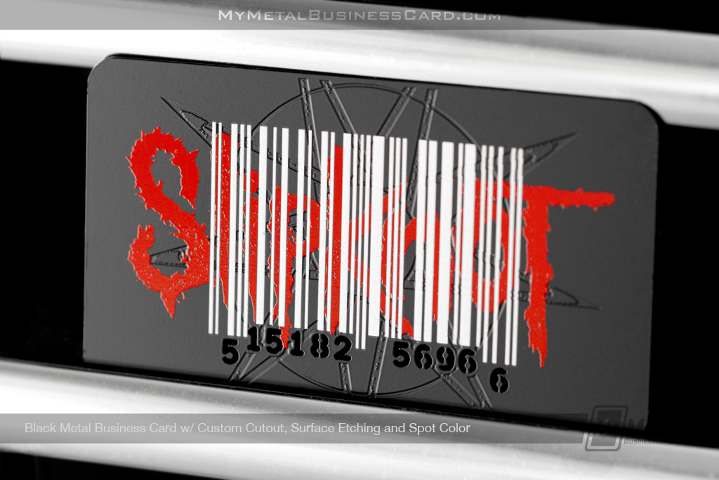 Black-Metal-Business-Card-Custom-Cuout-Surface-Etching-Spot-Color-Slipknot