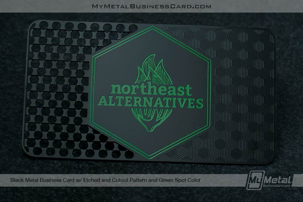 Weed-Gringer-Black-Metal-Business-Card-with-Patterns-for-Cannabis-Business