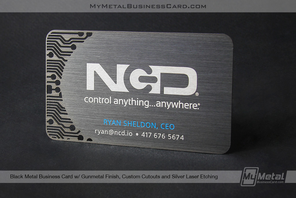 Black-Metal-Gunmetal-Brushed-Finish-Metal-Business-Card-for-Technology-Company