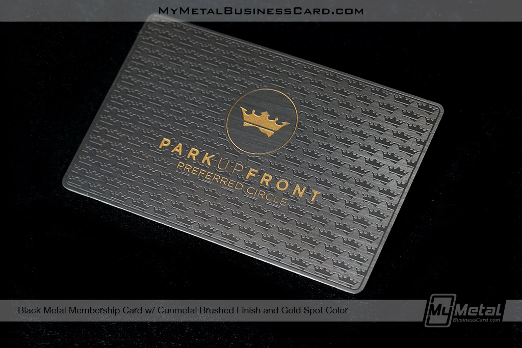 Black-Metal-Membership-Card-With-Gunmetal-Finish-and-Gold-Spot-Color-for-Park-Up-Front