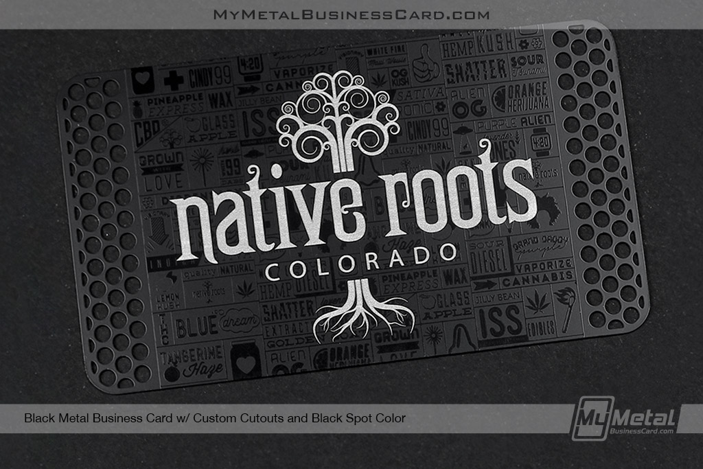Black-Metal-Business-Card-With-Custom-Cuouts-Black-Spot-Color-Design