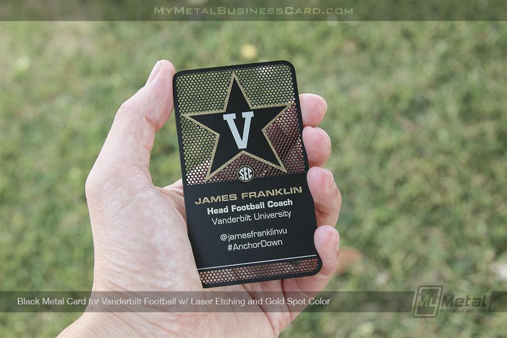 Black-Metal-Business-Card-Vanderbilt-Football