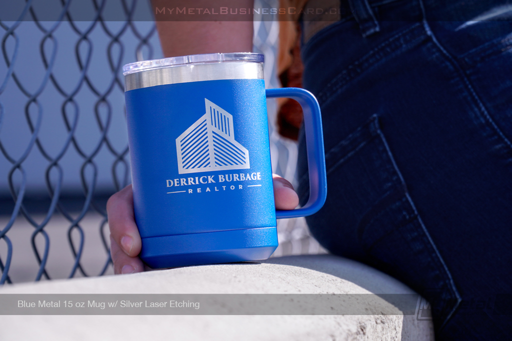 Blue-Metal-15-Ounce-Mug-Silver-Laser-Etched-Logo-Realty