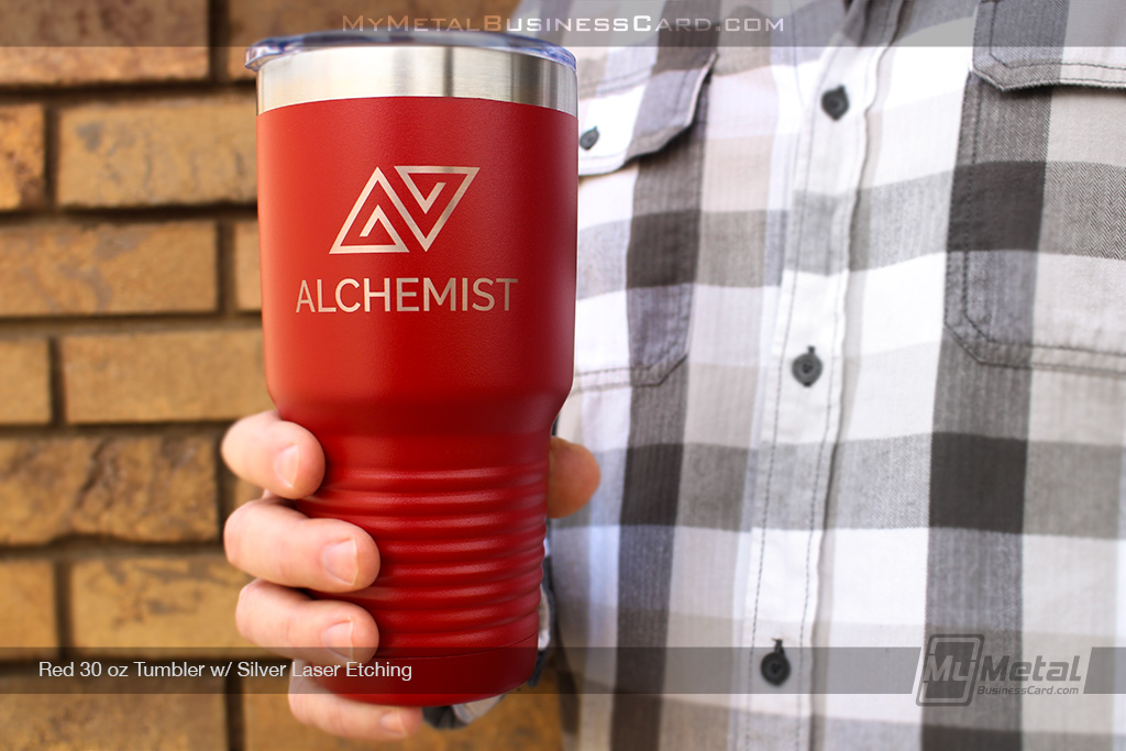 Red-30-oz-Metal-Tumbler-With-Your-Company-Logo-Custom-Laser-Etched