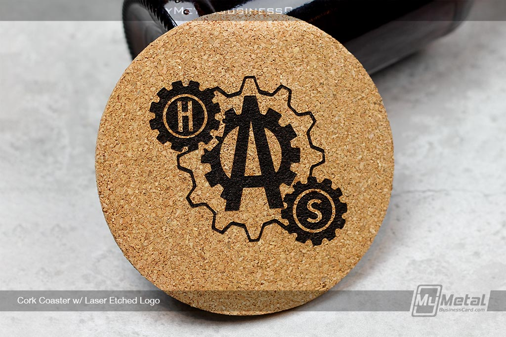 Cork-Coaster-Laser-Etched-Gear-Logo-Design