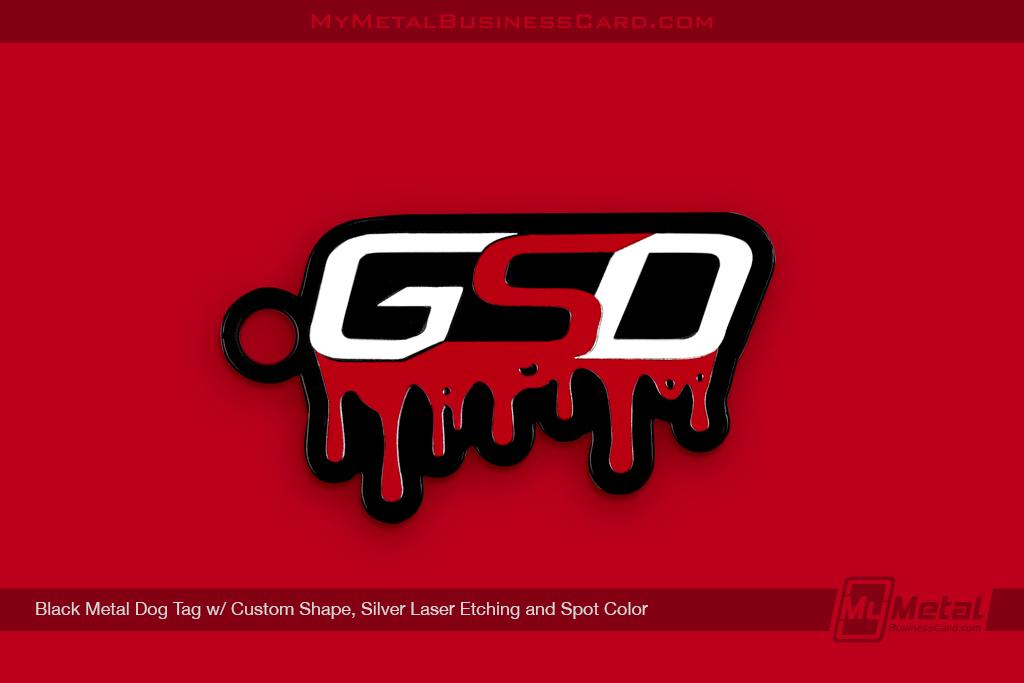 Black-Metal-Dog-Tag-Custom-Chape-Spot-Color-Silver-Laser-Etching-GSD