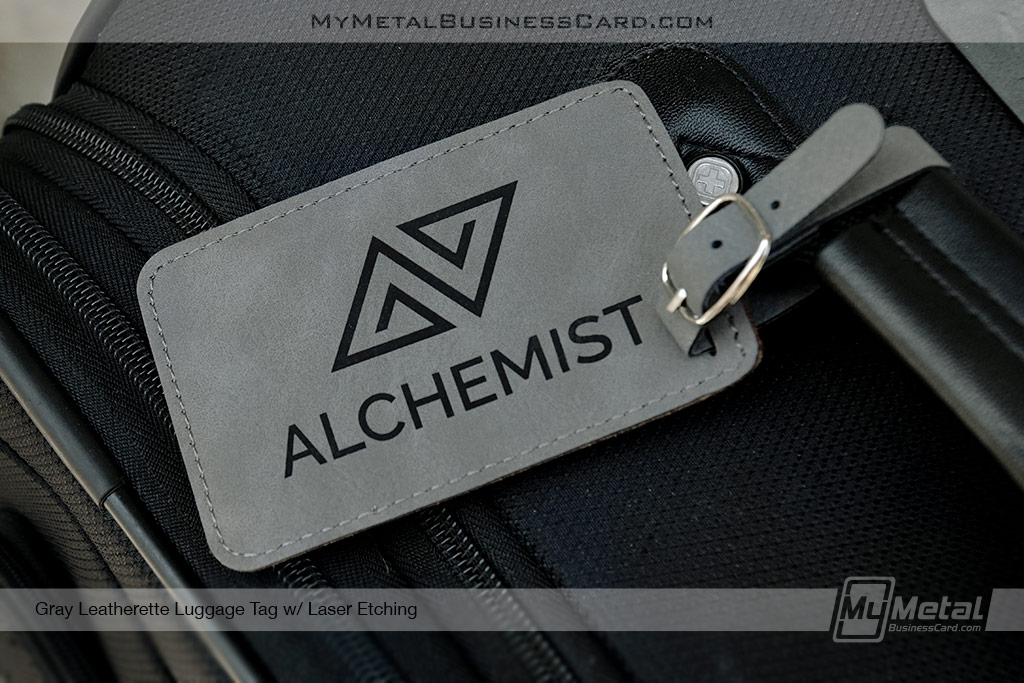 Gray-Leatherette-Luggage-Tag-with-Laser-Custom-Etched-Logo
