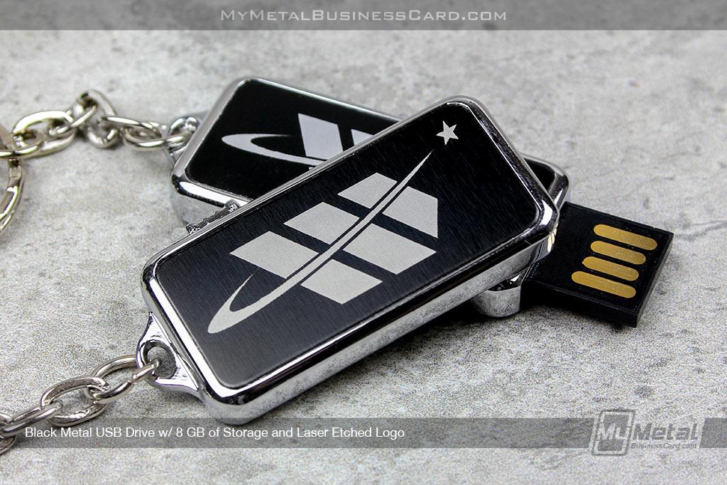 USB-Drive-Black-Metal-Silver-Laser-Etched-Logo