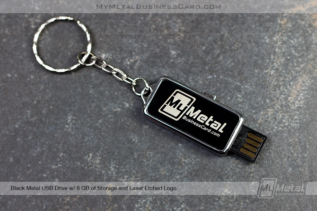 USB-Drive-Black-Metal-Custom-Silver-Laser-Etched-Logo