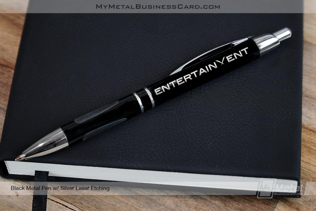 Black Metal Personalized Pens