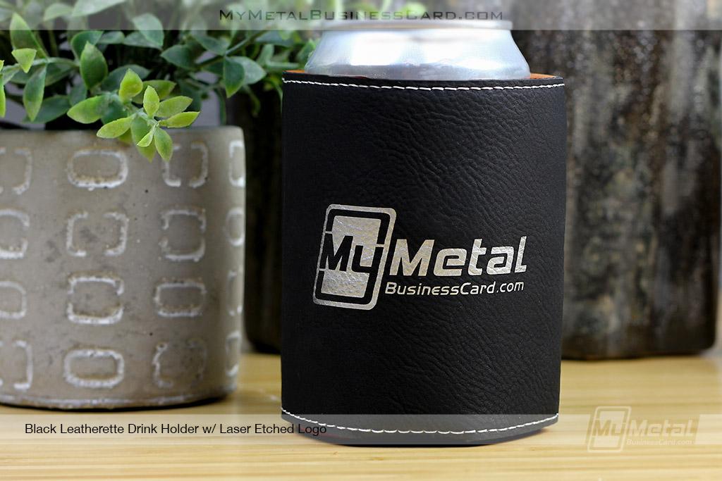 Drink-Holder-Black-Leatherette-Laser-Etched-Custom-Logo