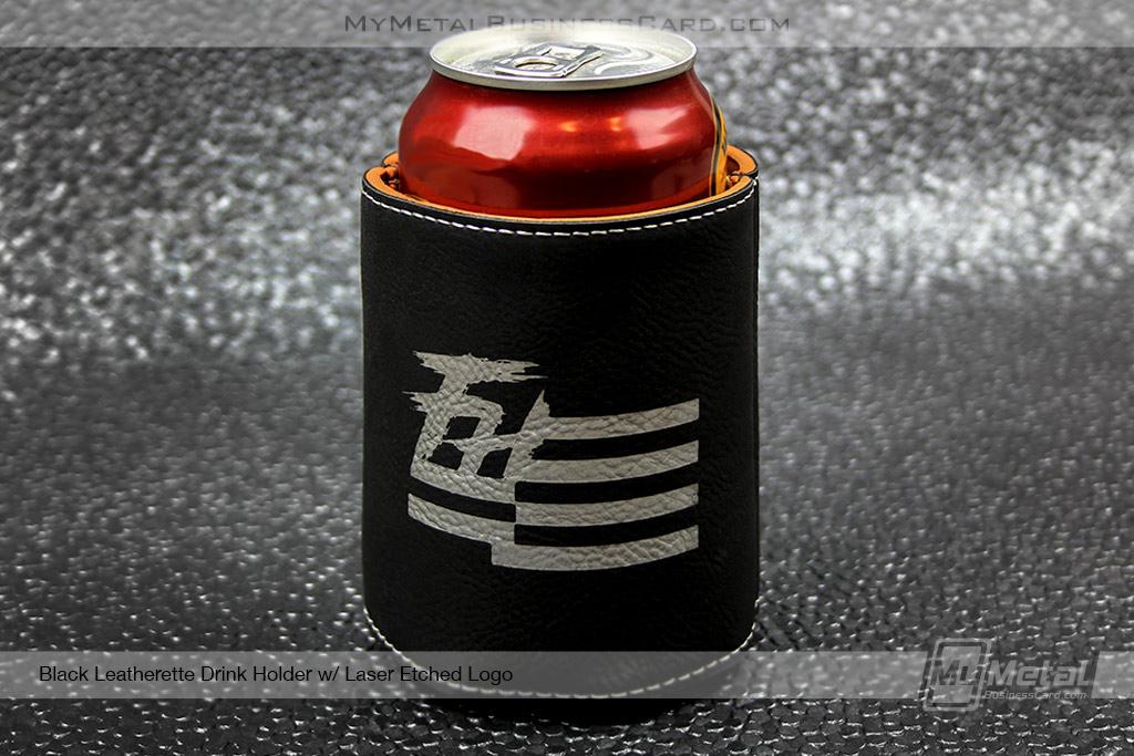 Drink-Holder-Black-Leatherette-Laser-Etched-Flag-Logo