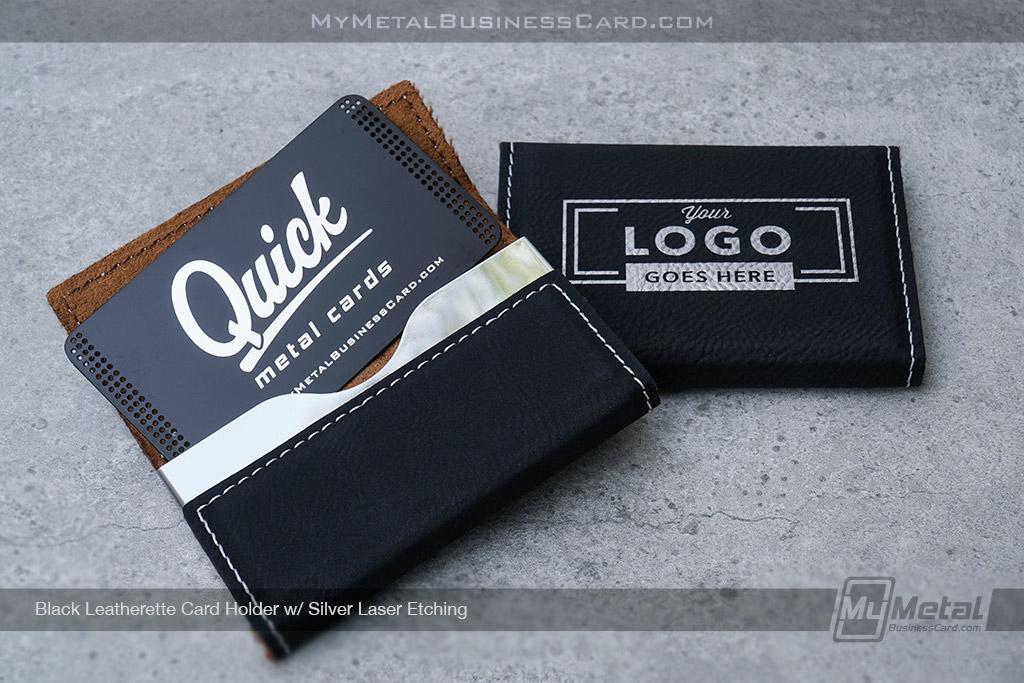 Card-Holder-Black-Leatherette-With-Your-Custom-Laser-Etched-Logo