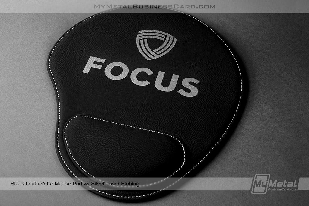 Black-Leatherette-Mouse-Pad-Focus-Logo