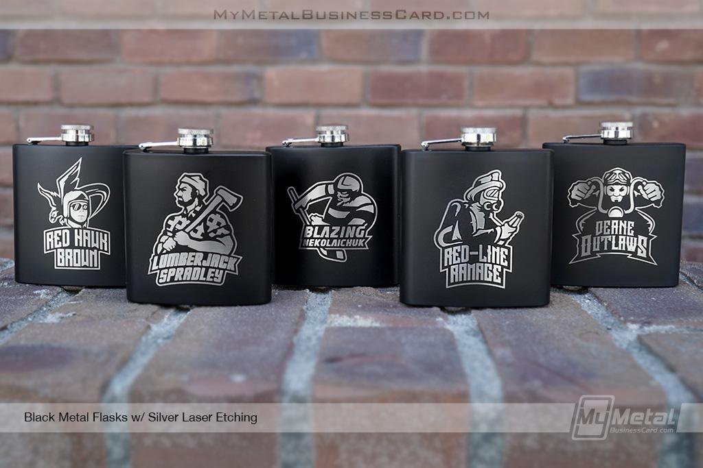 Black-Metal-Flasks-For-Groomsmen-With-Custom-Etching