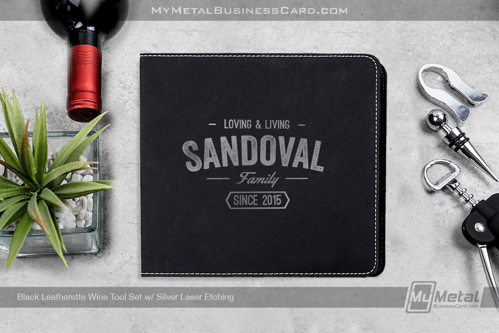 Black-Leatherette-Wine-Tool-Gift-Set-With-Customized-Family-Name-Logo