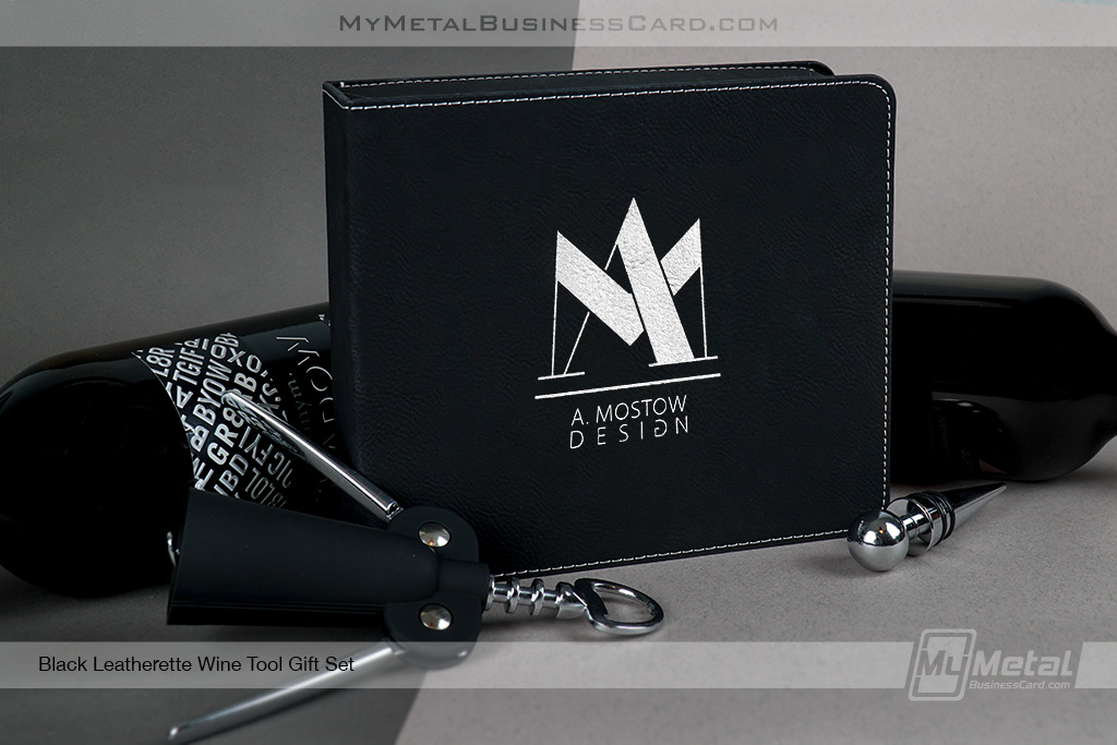 Black-Leatherette-Wine-Tool-Gift-Set-Branded-With-Your-Company-Logo
